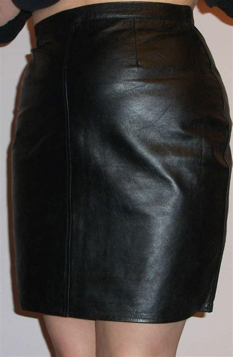 black genuine leather mini pencil skirt uk 8 22 ebay