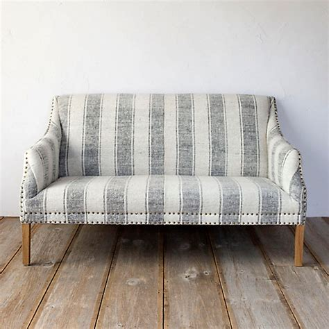 striped settee wide stripe settee terrain