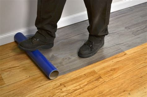 applying floor protection tapemanblue s products