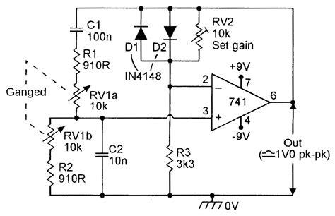 diode bridge limiter wien bridge oscillator with zener diode limiter circuit 28 images wien bridge oscillator
