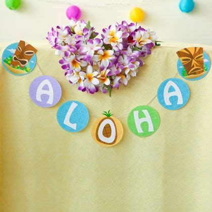 Aloha Banner Free Printable Luau Party Pinterest Banners Aloha Banner Template
