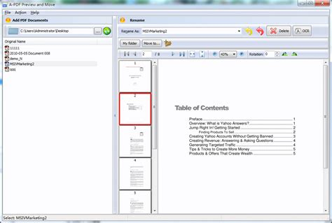 preview and move pdf file based on previewed pdf