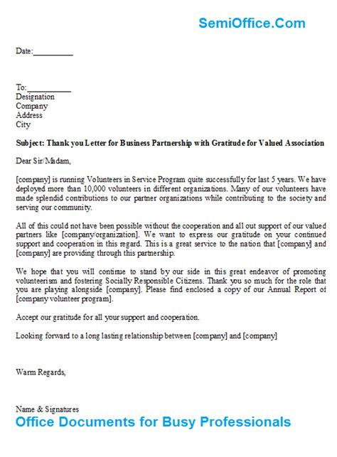 letter business partnership gratitude