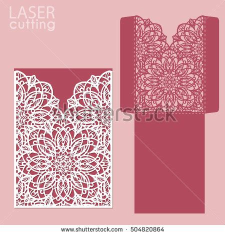 card dye cut templates die laser cut wedding card vector stock vector 504820864