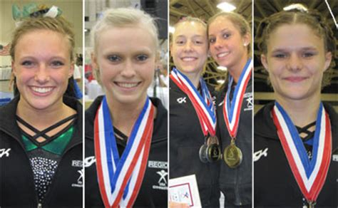 catherine rachel jacob usa gymnastics region 3 wins overall super team award at