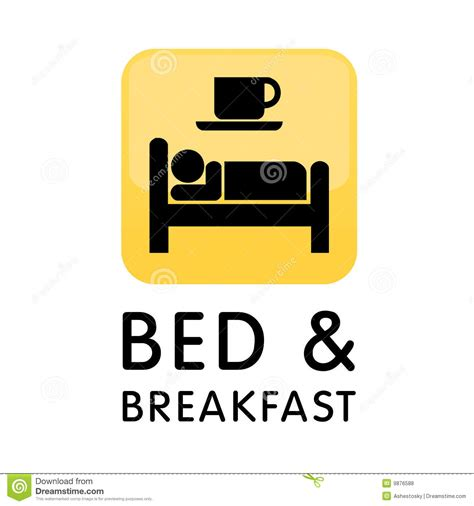 Sleep Room Design by Bed And Breakfast Icon Logo Royalty Free Stock Photos