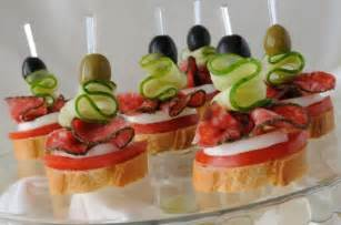 entertaining ideas appetizers for the first course