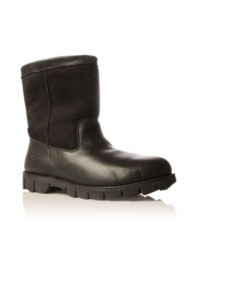 mens ugg beacon boots lyst ugg mens black beacon boot in black for