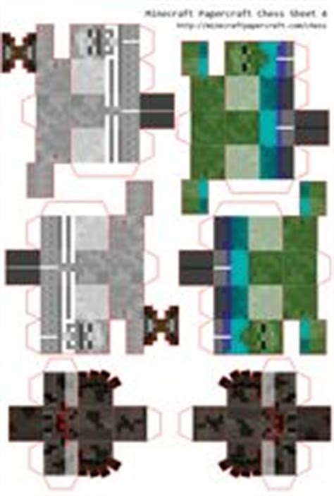 Minecraft Papercraft Chess - printables on papercraft minecraft and