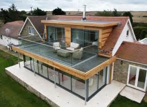 flat roof extension with balcony search roof