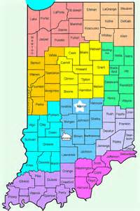 counties in map with cities indiana s counties county seats courthouses