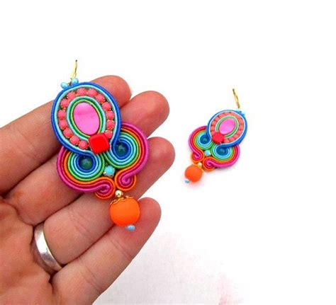 Pendant Bros Bulu Merak Embroidery 17 best images about soutache on brooches