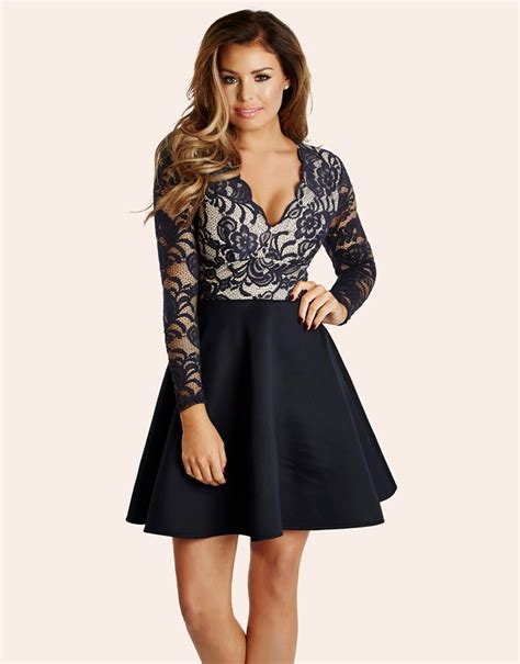 Colour Trends 2017 by Jessica Wright Lace Contrast Dress Lipsy