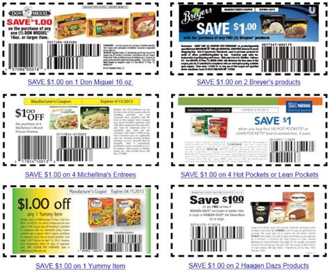 printable food coupons hot frozen foods printable coupons norcal coupon gal
