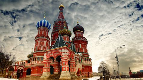wallpaper st basils cathedral moscow russia red