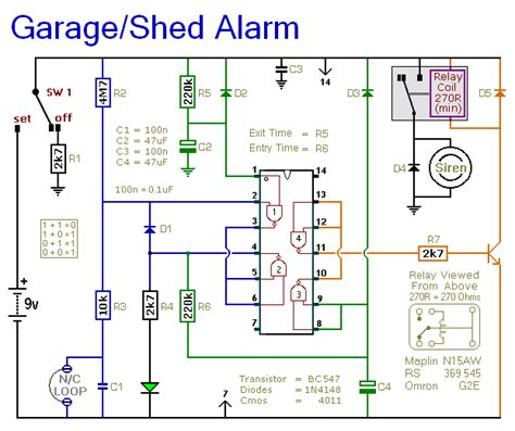 how to build a shed garage alarm circuit diagram