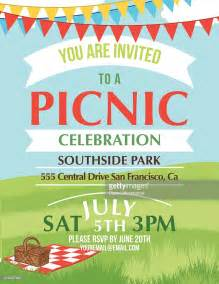 picnic invitation template summer picnic invitation template vector