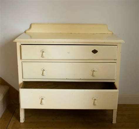 vintage shabby chic chest of drawers with print no 02 touch the wood