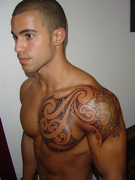 shoulder to chest tattoo designs chest shoulder designs ideas and meaning tattoos
