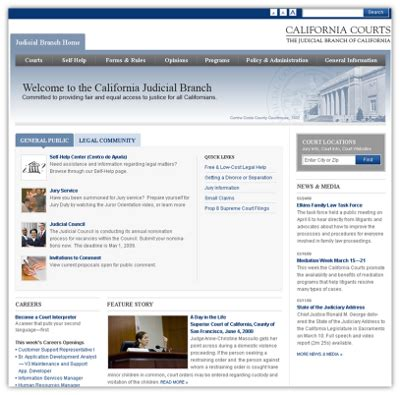 California Judicial Branch Search Judicial Branch Site Web Services