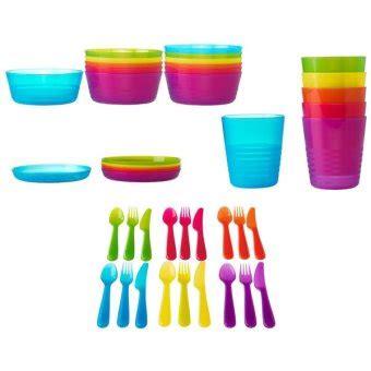 ikea kalas set piring mangkuk gelas sendok makan anak