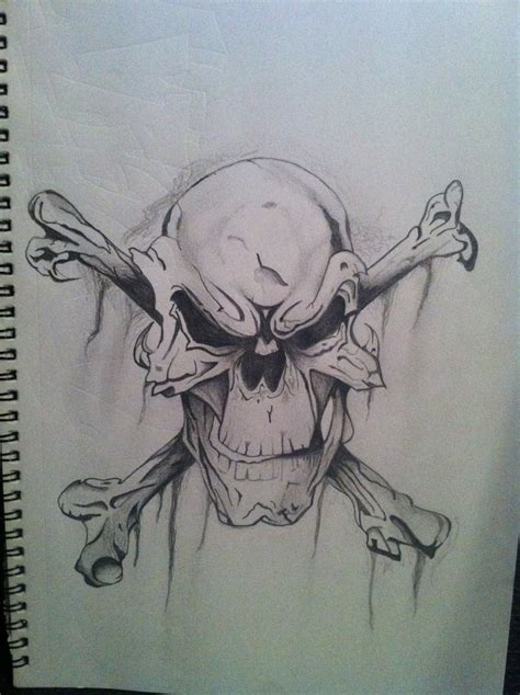 wicked skull tattoos evil skulls drawings cake ideas and designs