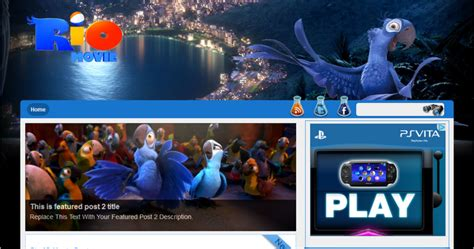 theme blog movie rio 3d free movie film theme blogger template download