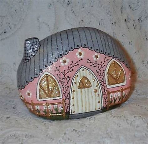 painted rock houses 17 best images about painted rocks buildings and houses