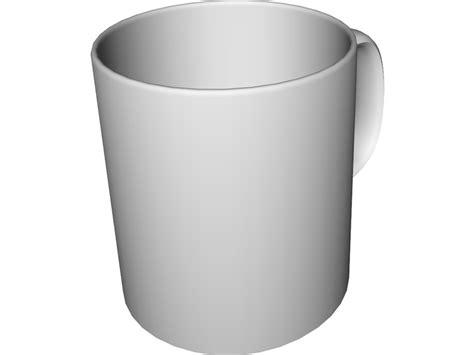 Coffee Mug 3D Model Download   3D CAD Browser