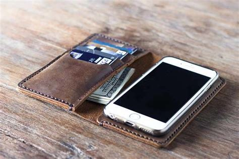 Dompet Flip Book Book Cover Iphone 6 Plus handcrafted custom phone wallets handmade leather wallet