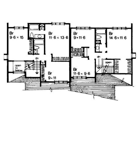 Lake Tahoe Vacation Duplex Plan 072d 0144 House Plans Family Lake House Plans