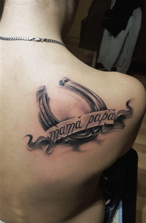 tat frank liebe zu pferd mama und paps tattoos von