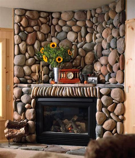 river rock fireplace design 30 fireplace ideas for a cozy nature inspired home freshome