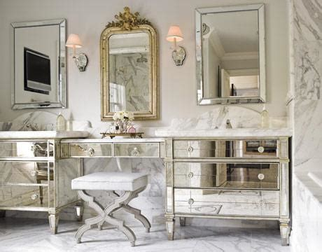 Mirrored Vanities For Bathroom Mirrored Bathroom Vanity Design Ideas