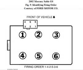 diagram for spark wires on a2002 mercury dohc