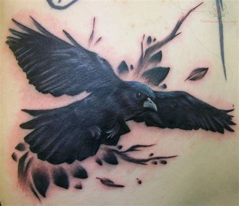 traditional crow tattoo tatto designs
