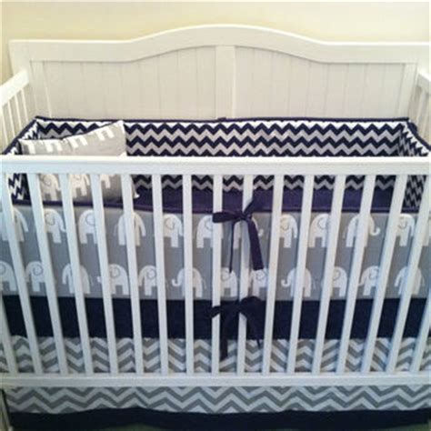 Navy And White Crib Sheets by Crib Bedding Set Gray White Navy Blue From Butterbeansboutique On