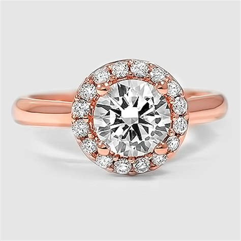 Rotgold Ring by Gold Halo Engagement Rings Brilliant Earth Ring