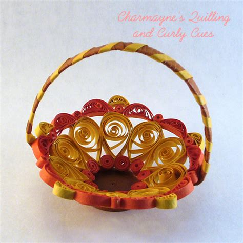 paper quilling basket tutorial charmayne s quilling and curly cues easter projects