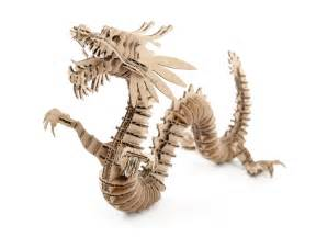 Laser Kitchen Knives D Torso Laser Cut Cardboard Animals Dragon 133