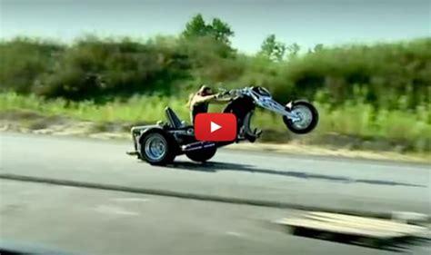 Custom R 368 v 8 trike popping wheelies totally rad choppers
