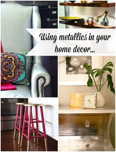 metallic home decor metallic home decor ideas uncommon designs