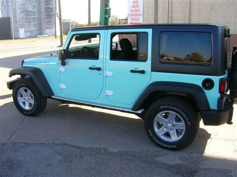 jeep wrangler turquoise for sale blue jeep alphagraffix yukon ok us 103115
