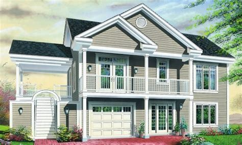 basement entry house plans economical multi family dwelling house plan hunters