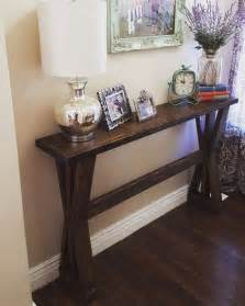 Design For Thin Sofa Table Ideas Rustic Wedding Decor Ideas Easy Rustic Wedding Table From One Fab Day Rustic Console Table