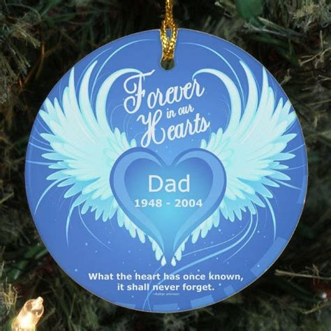 Photo Memorial Ornaments - in our hearts memorial ornament giftsforyounow
