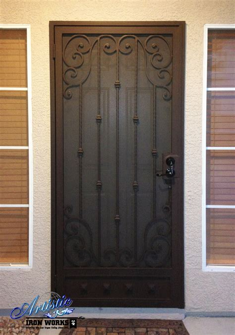 Steel Security Doors Design Ideas Scrolled Wrought Iron Security Door Sd0164 Wrought Iron Security Doors Pinterest Wrought