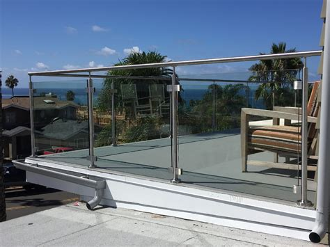 Tempered Glass Railing stainless steel glass railing san diego patriot glass