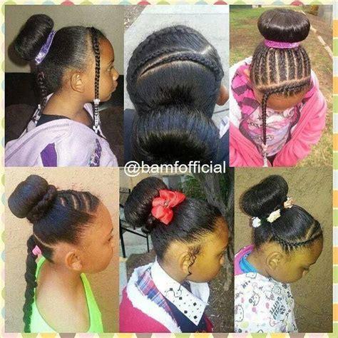 sock bun with natural black hair various bun hairstyles for little girls natural kids