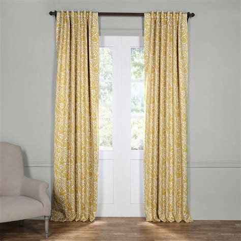 Yellow Black Out Curtains Exclusive Fabrics Furnishings Soliel Yellow Grey Blackout Curtain 50 In W X 120 In L Pair